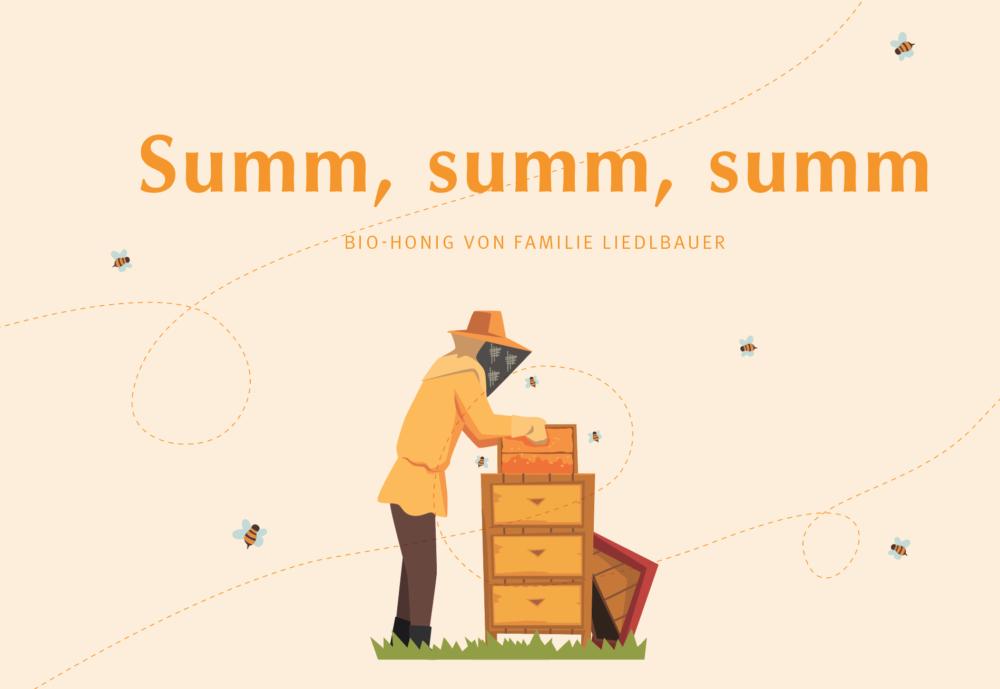 Zeichnung Bienen Lidlbauer